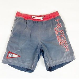 Tommy Hilfiger Authentic Faded Gray Swim Trunks M